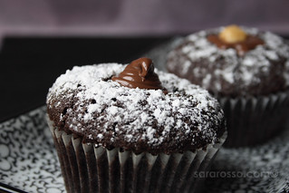 Drunken Devil's Food Espresso Cupcakes with Nutella Filling | by MsAdventuresinItaly
