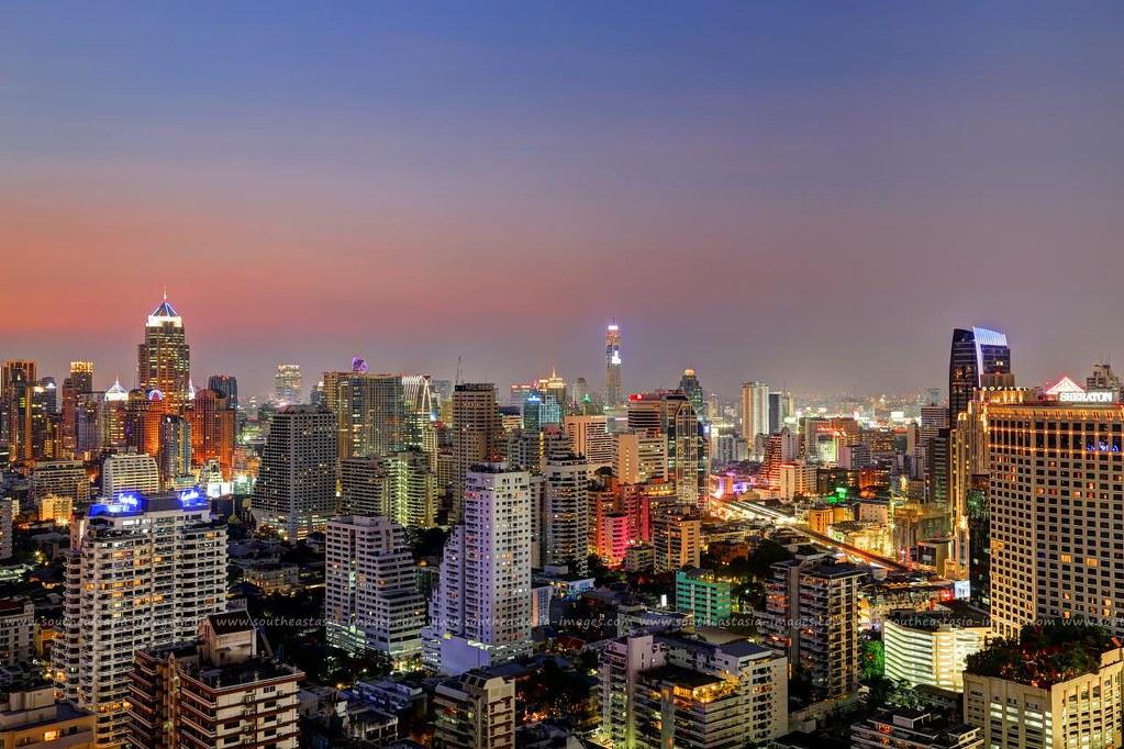 Bangkok Downtown (Sukhumvit) Cityscape Colors | Visit my web