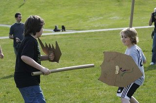 cardboard tube fighting league | by bitmask