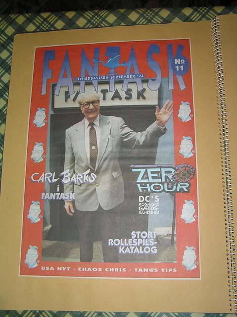 Carl Barks in front of Fantask