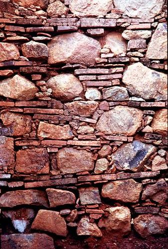 Muro de mampostería de rocas