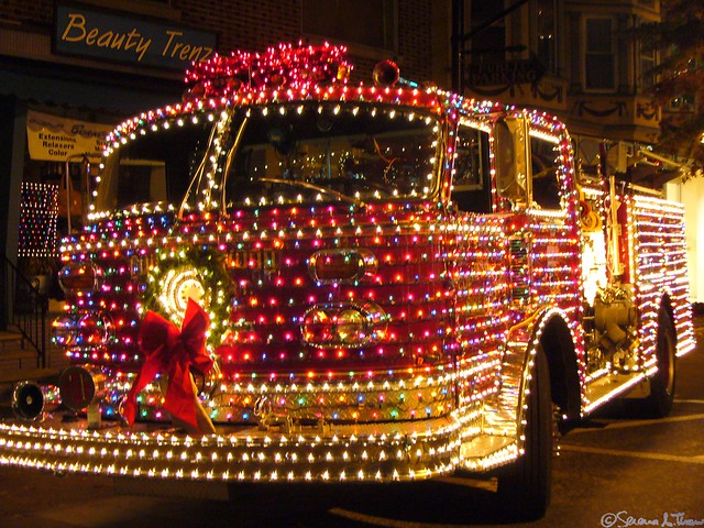 Collingswood Christmas Fire Truck