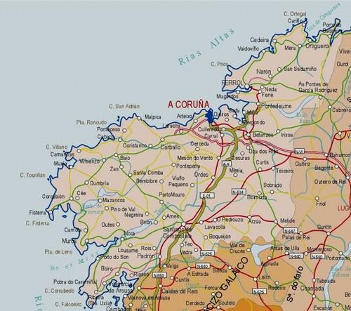 Mapa Provincia Coruna 600x531 Xose Ramon Flickr
