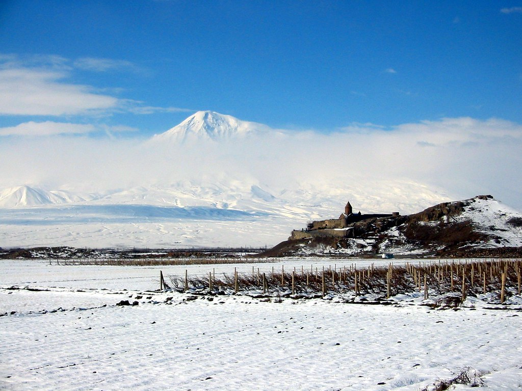 Ararat Mountain and KhorVirap Monastery