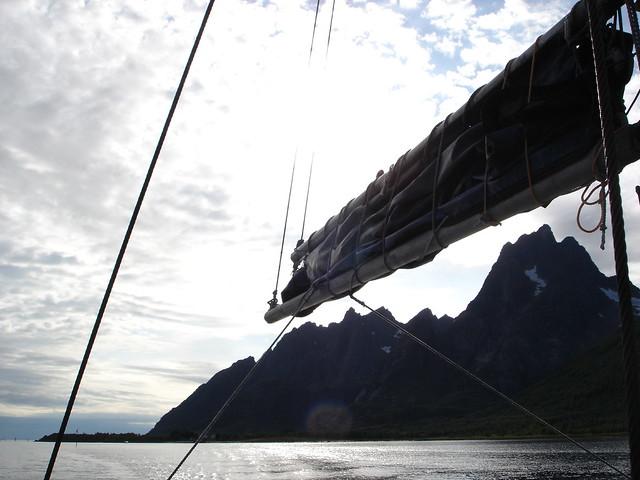 By boat in the Trollfjord