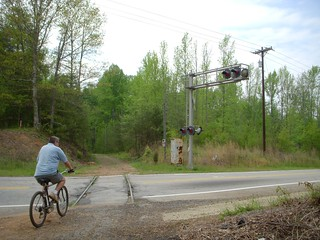 Cyclist on the Swamp Rabbit Trail | by RandomConnections