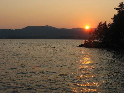 sunset mountain water lakegeorge adirondack