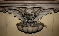 Winged Skull and Basin for Holy Water | by Curious Expeditions