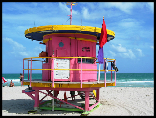 Lifeguard hut Miami | by Natasja ❤