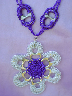Pul Tab Necklace with Flower | by Pop Top Lady