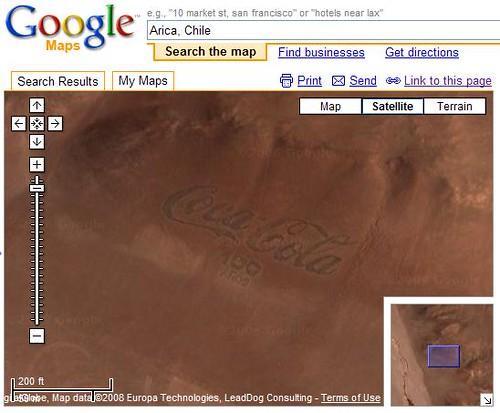 Coca Cola Logo in Google Maps
