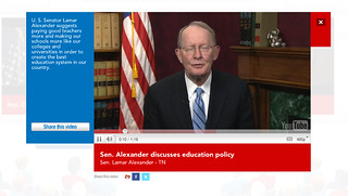 Tennessee Sen. Lamar Alexander featured in YouTube Town Hall | by jacklail