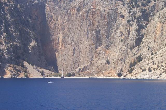 Desolate bay in  Symi island , Greece