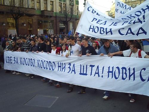 Belgrade against Kosovo - 21.02.2008