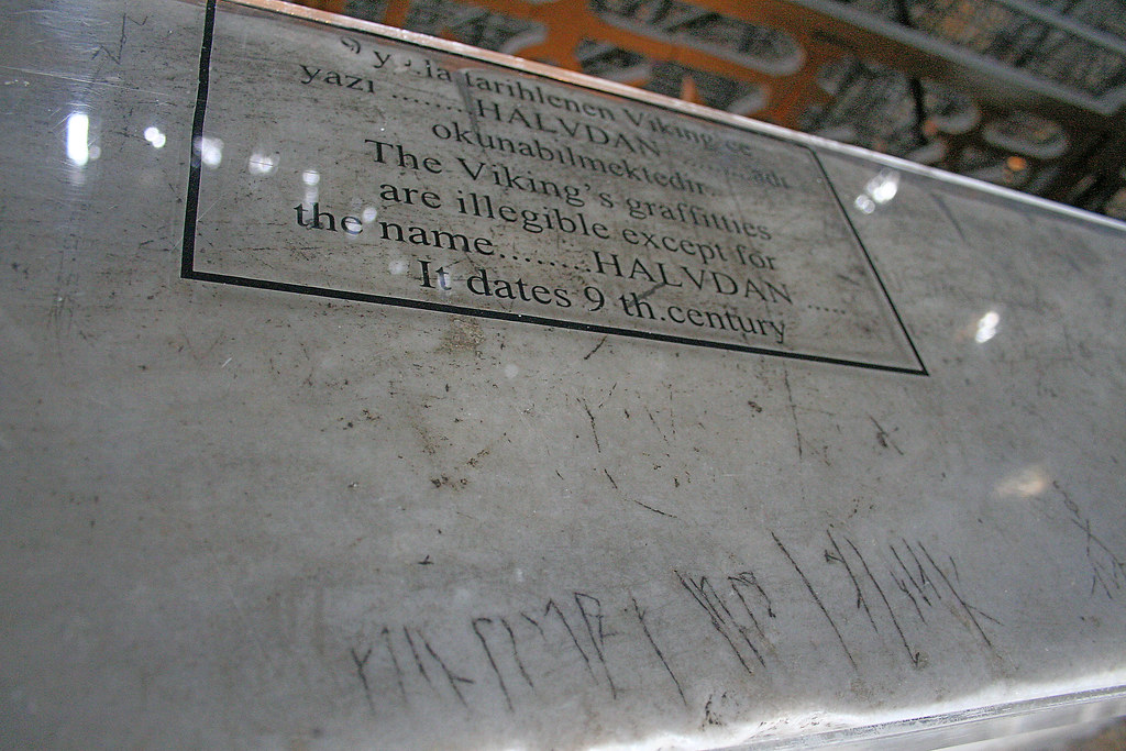 9th century viking graffiti in Hagia Sophia