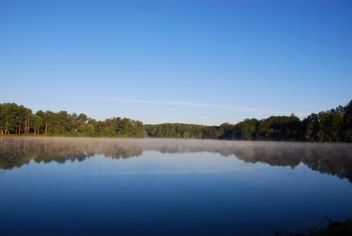lake reflection landscapes pond