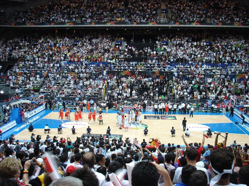 Saitama Super Arena Greece Vs Spain Japan Fiba World Ch