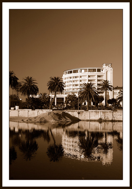 Sepia Reflections by the sea