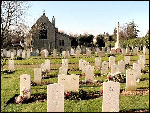 ... Service Graves, St Andrew's churchyard, Cranwell, Lincolnshire - by Lincolnian (Brian)