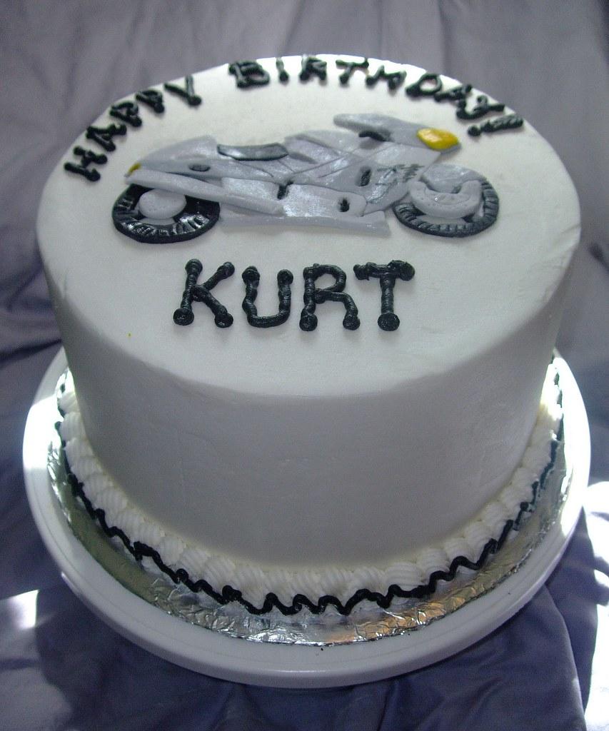 Enjoyable Motorcycle Birthday Cake Chocolate Cake With Buttercream F Flickr Funny Birthday Cards Online Alyptdamsfinfo