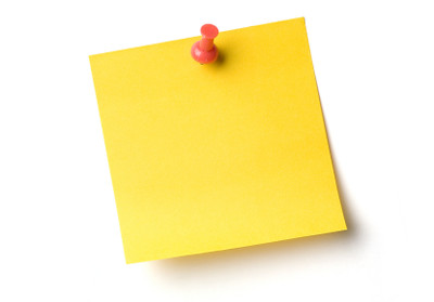 stickynote | Yellow sticky notes and push pin on white with … | Flickr