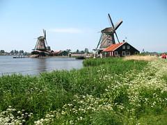 Windmills in Zaanse Schans, Netherlands