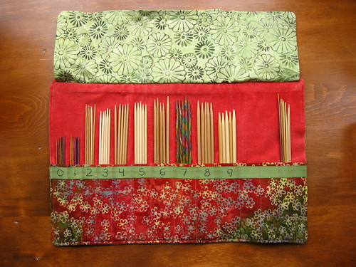 double pointed needle wrap