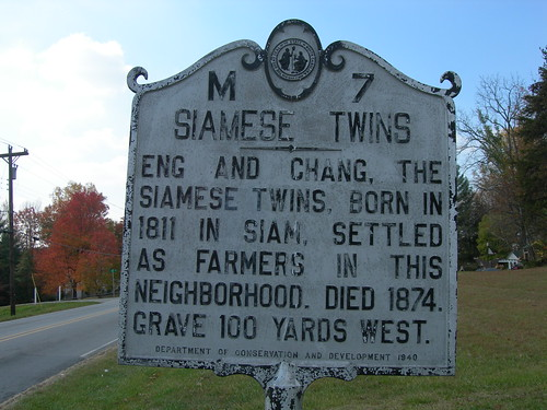 Siamese Twins Historic Marker | by jimmywayne
