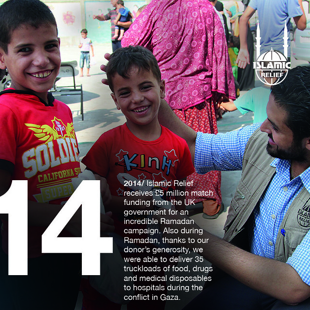 2014 - UK government support our Ramadan campaign with £5m match funding