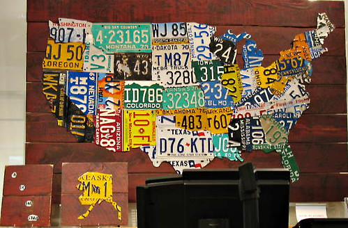 Map of the US made out of License plates | Birs100 | Flickr Made Out Of License Plates Map on map wall decor metal art, map made of books, map white on white art, map made of tools, map of united states license, map made of paper, map made of flowers, map made of buttons,