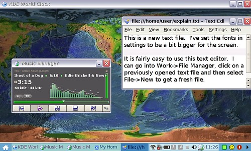 Text Editor Used with Music Manager and World Clock in Bac… | Flickr