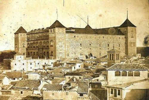 Alcázar de Toledo, España, hacia 1885