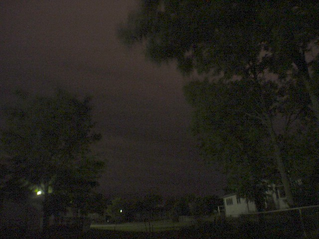 061604 - Late Night Nebraska Thunderstorm - Shelf Cloud Imminent!