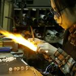 #8466 making glass beads