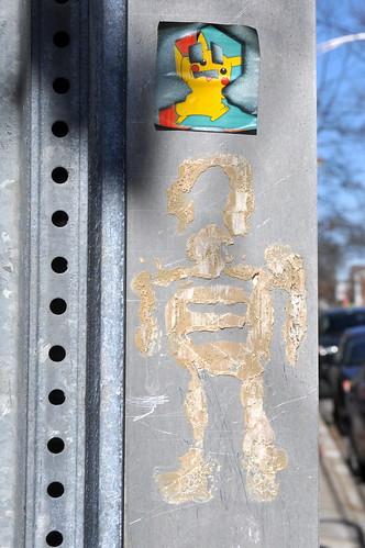 Lambertville Street Art: Stikman   by Kendall Whitehouse