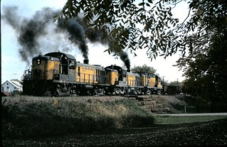 CNW RS-3 Alco's  at Waseca Min
