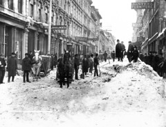 Clearing snow, Notre Dame Street, Montreal, QC, about 1887 | by Musée McCord Museum