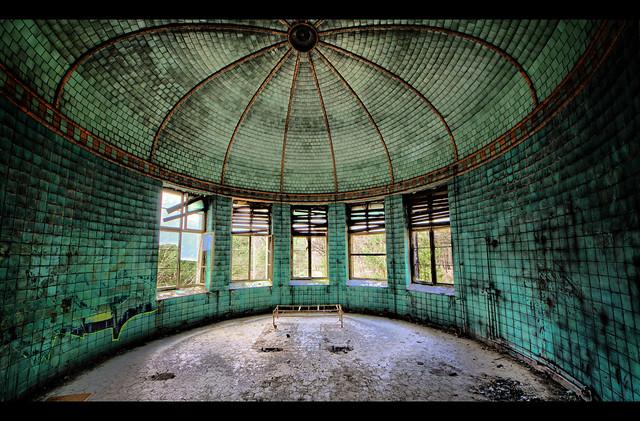 Circular room at Beelitz-Heilstätten