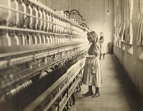 Child in Spinning Mill 1908 | by silkrt.com