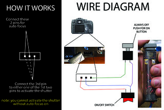 Diy Homemade Sony Alpha Wired Remote Wire Diagram Diy Home Flickr