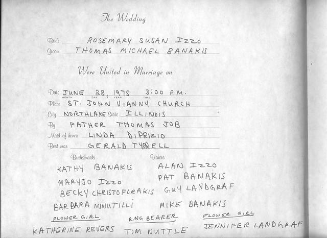 1975 6-28 The Wedding - Thomas  &  Rosemary Banakis 001