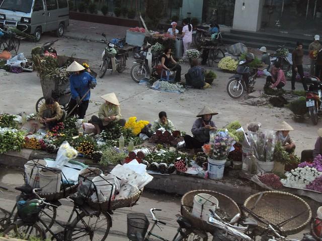 early morning flower market