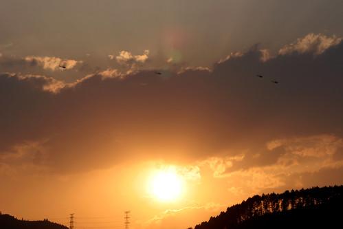 sunset sky cloud sun mountain japan geotagged tokyo oume geo:lat=35784938 geo:lon=139249021