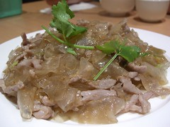 肉丝炒粉皮 Sweet Potato Noodle Stir-Fried with Pork - David and Camy Noodle Restaurant, Box Hill | by avlxyz
