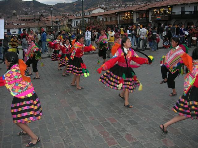 Parade at Plaza De Armas, Cusco