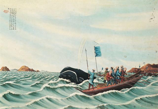 司馬江漢「捕鯨図」(1794)