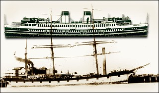 Clippers:  Beejapore,  Marco Polo  & Sydney Harbour ferry - South Steyne