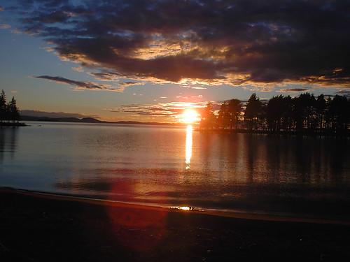 Lake Siljan sunset (1)