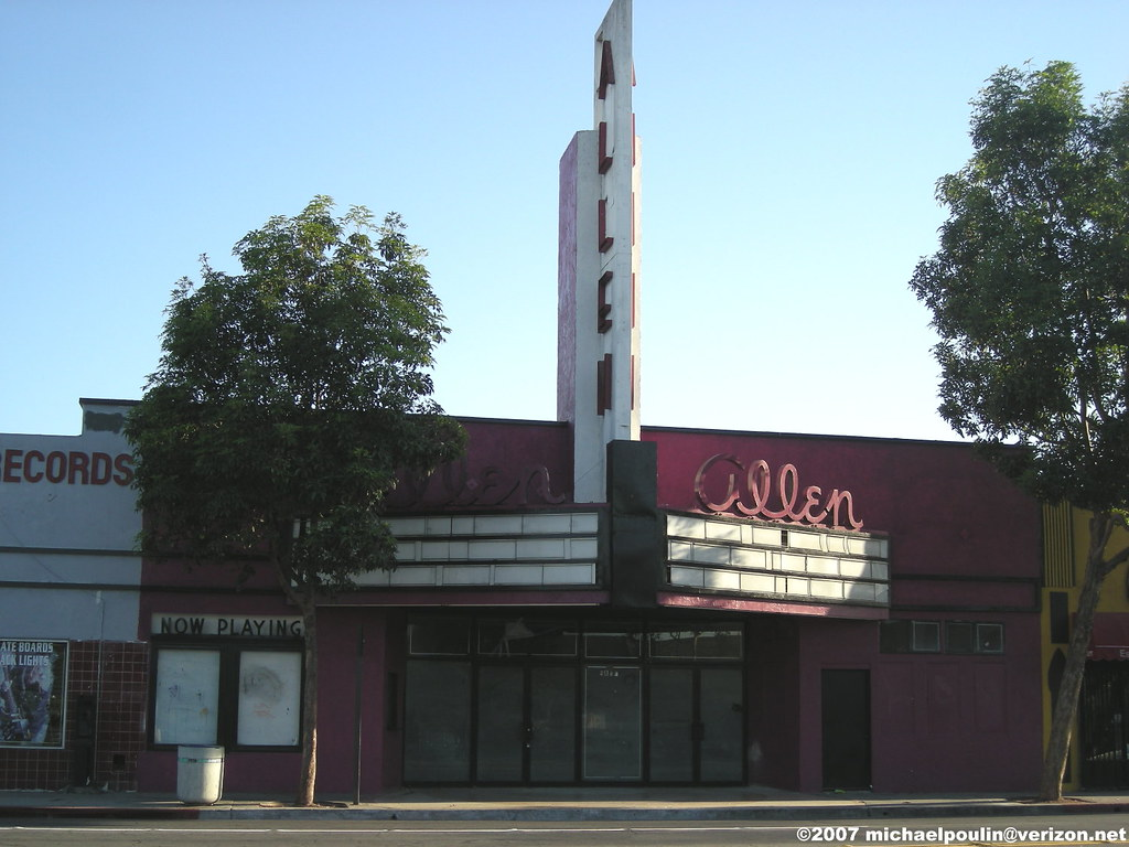 City Of South Gate >> Brighter Shot Of Allen Theatre City Of South Gate Califo