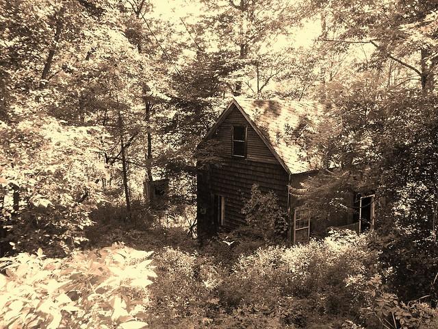 abandoned Putney Falls house